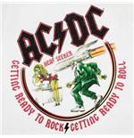 Купи Футболка AC/DC белого цвета с логотипом и фразой: Готов к року...